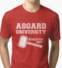 Asgard University - Athletics Department (Dark Shirt) Tri-blend T-Shirt