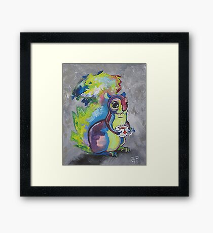Tea Squirrel  Framed Print