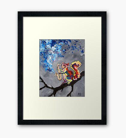 Squirrel Blues Framed Print