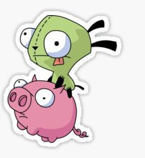 Gir Riding Pig  Sticker