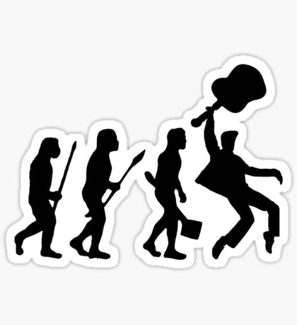 EVOLUTION OF ROCK Sticker