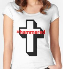 #hammered Women's Fitted Scoop T-Shirt
