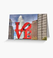 LOVE in Philly in HDR Greeting Card