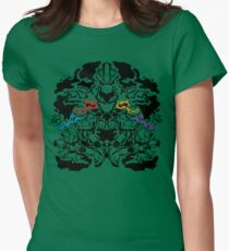 Teenage Mutant Ninja Rorschach Women's Fitted T-Shirt