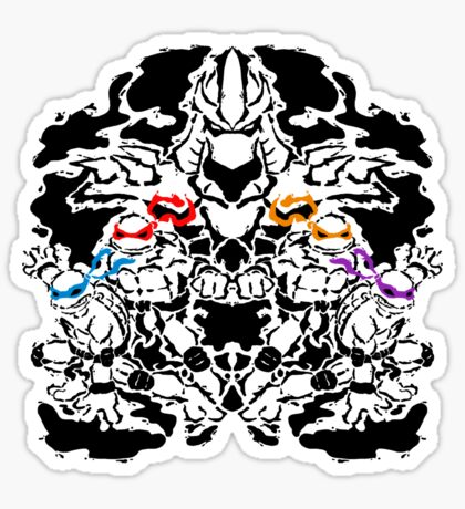 Teenage Mutant Ninja Rorschach Sticker