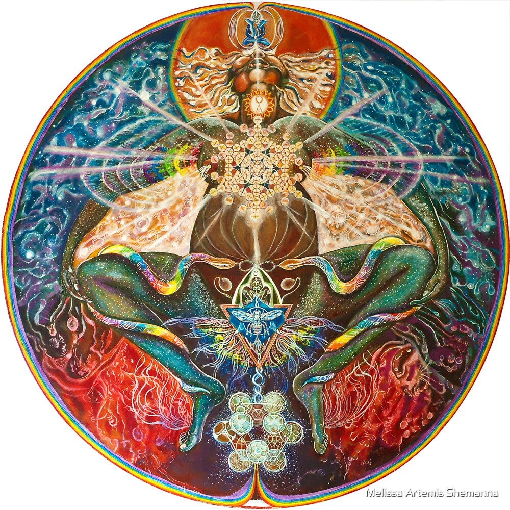 Quot Cosmic Mother Birthing Rainbow Body Quot By Melissa Shemanna