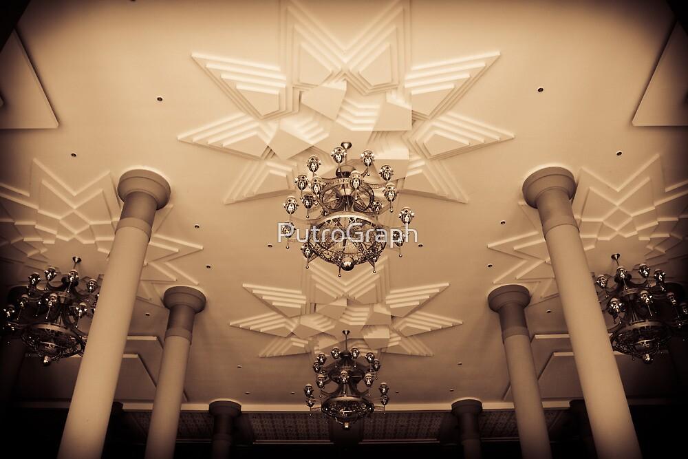 Islamic Center of Samarinda's Ceiling by PutroGraph