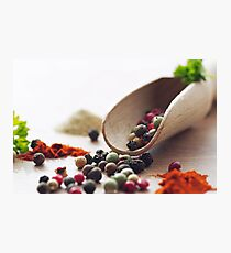 Fresh Pepper and Spices Photographic Print
