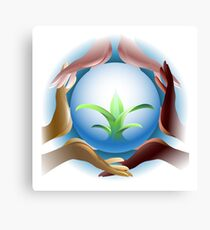 Ecological concept Canvas Print