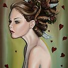 Girl with Wings and Flowers in her Hair by plantiebee