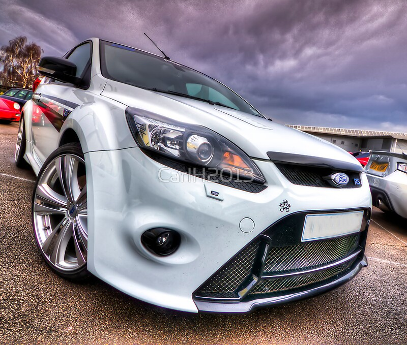 white ford focus rs turbo framed prints by carlh2013. Black Bedroom Furniture Sets. Home Design Ideas