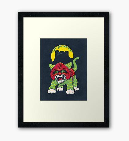 Battle Kitty's Mighty RAWR!  Framed Print