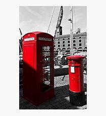 Post Box Phone box Photographic Print