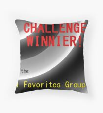 Challenge Winner Throw Pillow