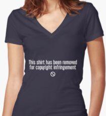 Copyright Infringement Women's Fitted V-Neck T-Shirt