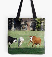 Cattle Herding Cattle Tote Bag