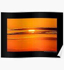 Golden Sunset - Stony Brook, New York  Poster