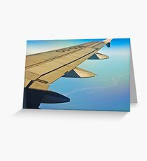 Between clouds, air and earth. Greeting Card