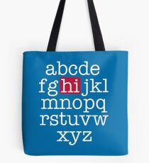 The Alphabet Tote Bag