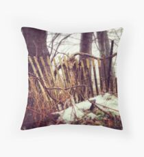fencing nature Throw Pillow