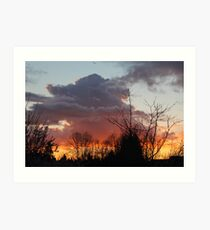 Showers Subsiding at Sundown Art Print