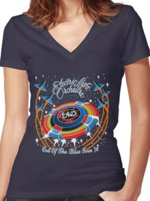 E.L.O. Out of The BLUE TOUR Women's Fitted V-Neck T-Shirt