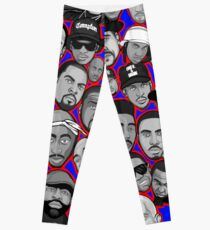 old school hip hop legends collage art Leggings