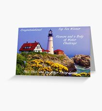 Top Ten Banner Winner - Flowers and a Body of Water Greeting Card
