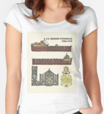 Edmund Fitzgerald Women's Fitted Scoop T-Shirt