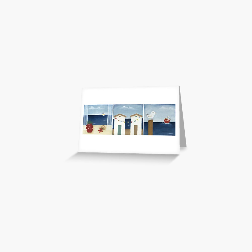 Costal Shabby - triptic Greeting Card