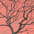 tree on pink by Katerinka