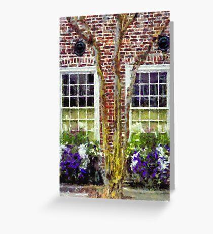 Charleston's Window Boxes Greeting Card