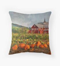 Country Pumpkins Throw Pillow