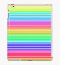 bright happy rainbow stripes iPad Case/Skin