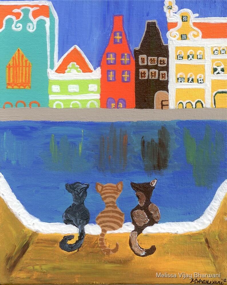 Cats Enjoying the View by Melissa Vijay Bharwani