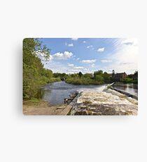 The Weir @ Boroughbridge Canvas Print