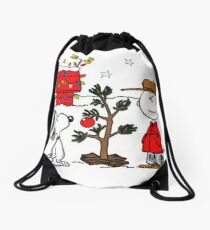 Snoopy and Charlie Brown Drawstring Bag