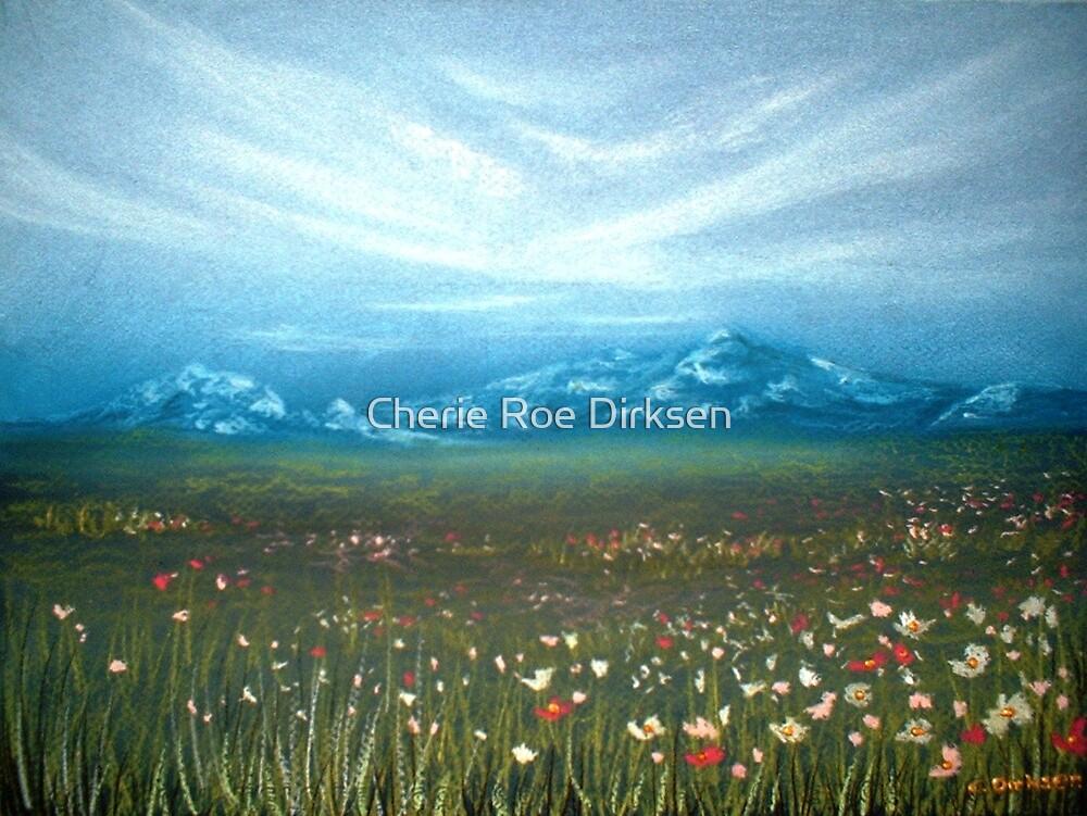Field of Cosmos by Cherie Roe Dirksen