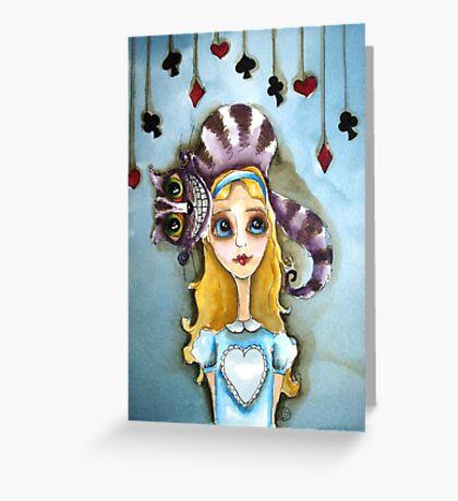 Alice in Wonderland - cat head Greeting Card
