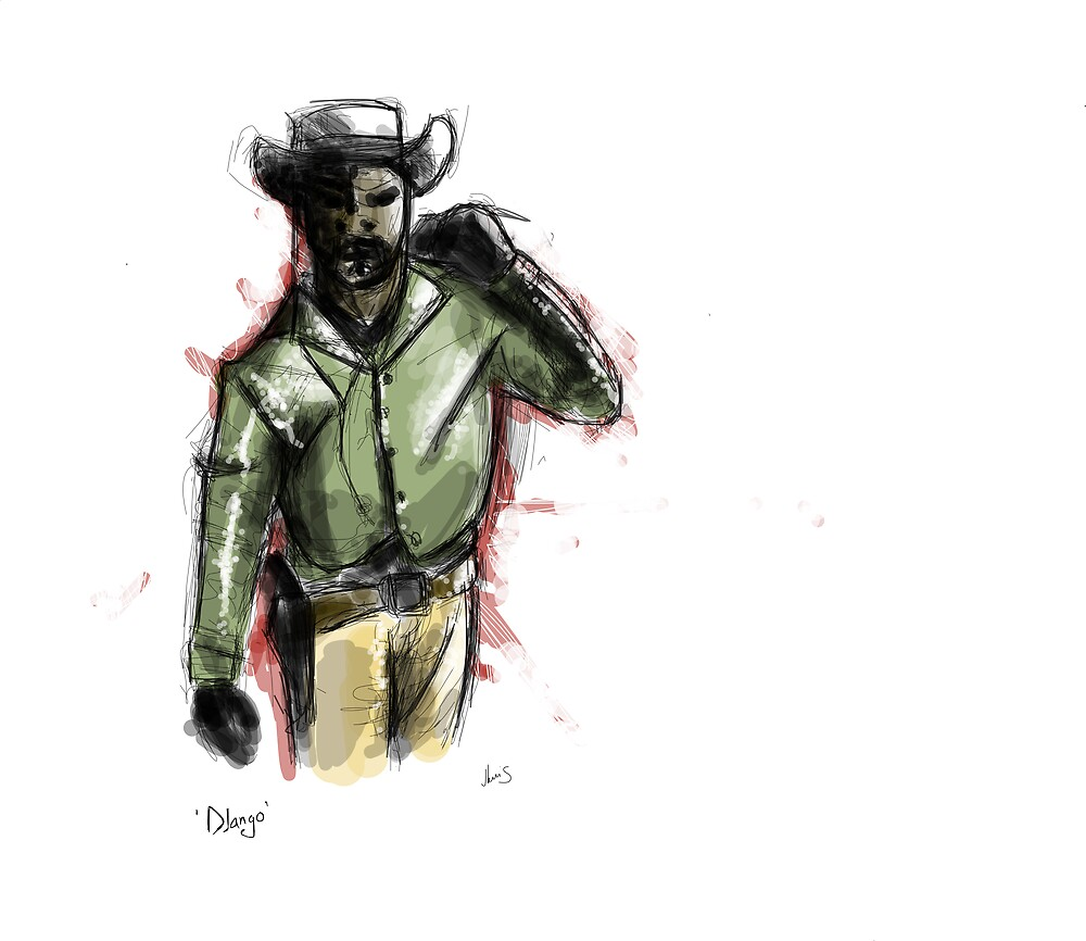 Django Unchained concept art by jlew1s