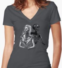 Death and the Maiden Women's Fitted V-Neck T-Shirt