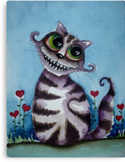 The Cheshire Cat - big smile by StressieCat
