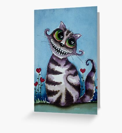 The Cheshire Cat - big smile Greeting Card