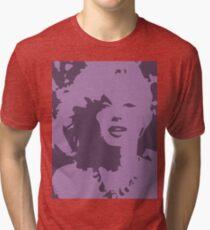 Marilyn Monroe Pop Art Light Purple Tri-blend T-Shirt