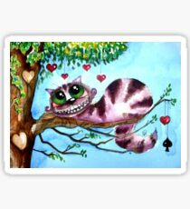 The Cheshire Cat - so much love Sticker