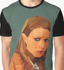 Margot Tenenbaum Low Poly Portrait from the Royal Tenenbaums Graphic T-Shirt