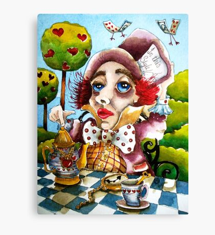 The Mad Hatter - time for tea Canvas Print