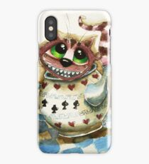 The Cheshire Cat - snuggly teapot iPhone Case/Skin