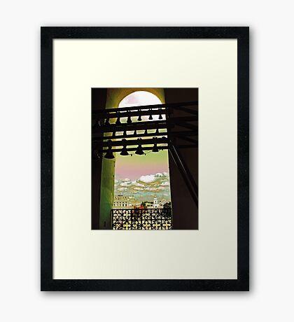 My vew from Sophia Bell Tower. Framed Print