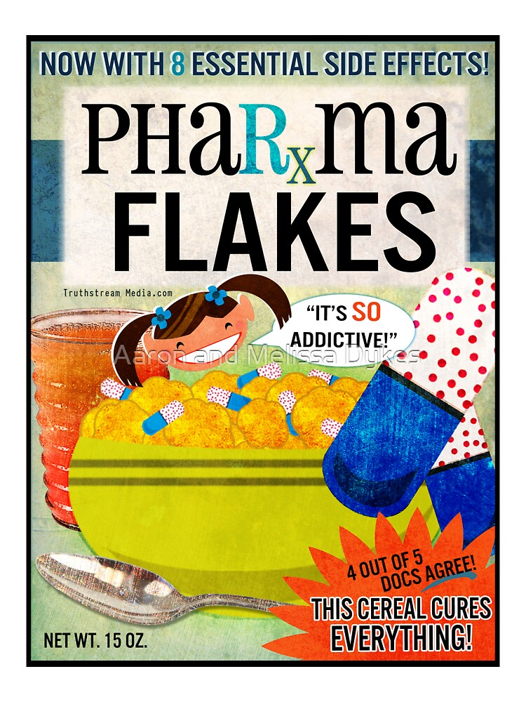 Big Pharma Flakes Breakfast Cereal by truthstreamnews
